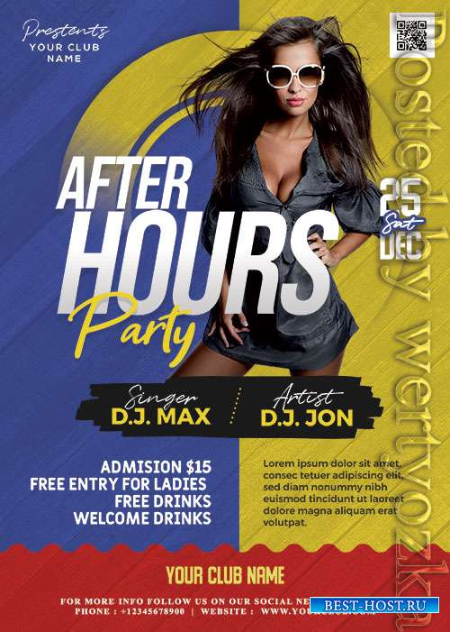 After Hours Party Flyer PSD Template