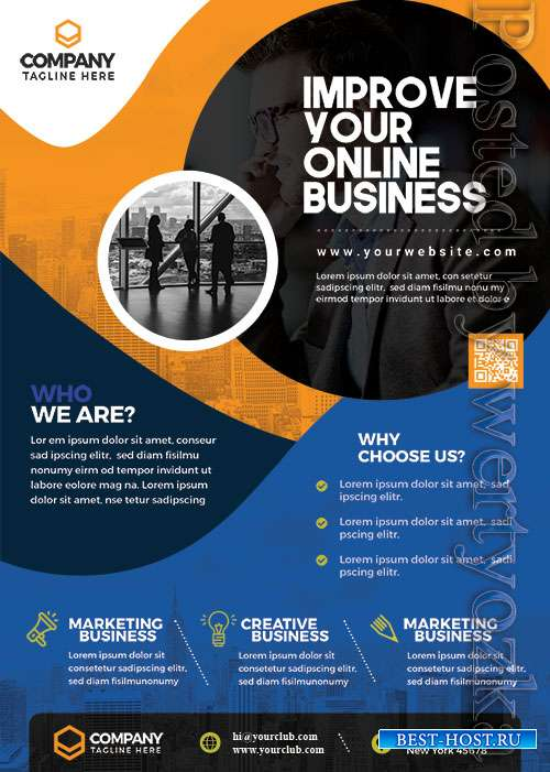 Corporate Business Promotion PSD Flyer Template