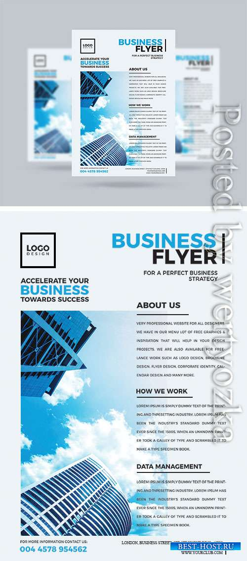 Modern Business Flyer Psd Template Design