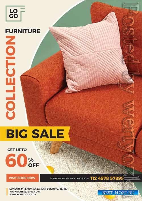 Furniture Sale Flyer Psd Template