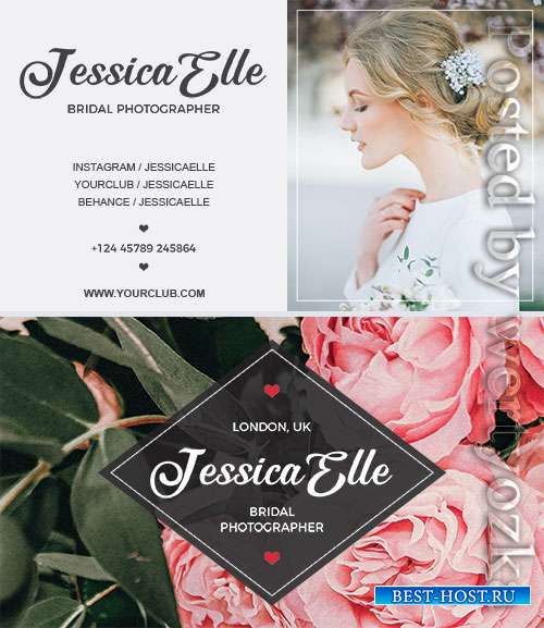 Bridal Photography Business Card Psd Template
