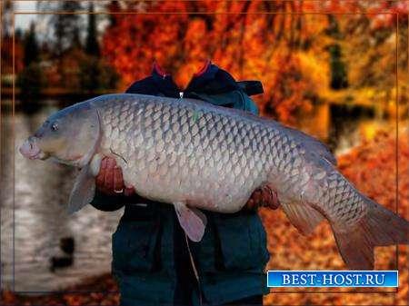 Шаблон - На осенней рыбалке