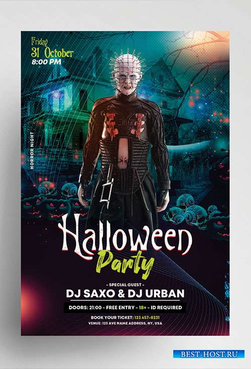 Halloween party vol4 psd flyer