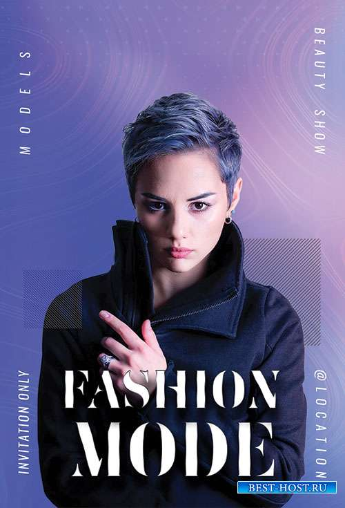 Fashion Mode psd flyer template