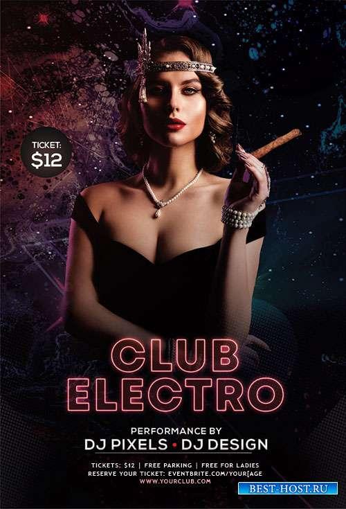 Club electro psd flyer