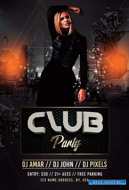 Club party psd flyer