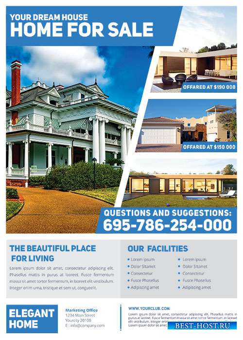 Simple real estate psd flyer A4