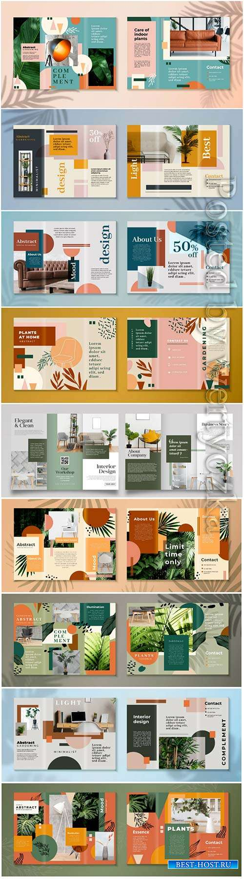 Abstract trifold brochure vector template