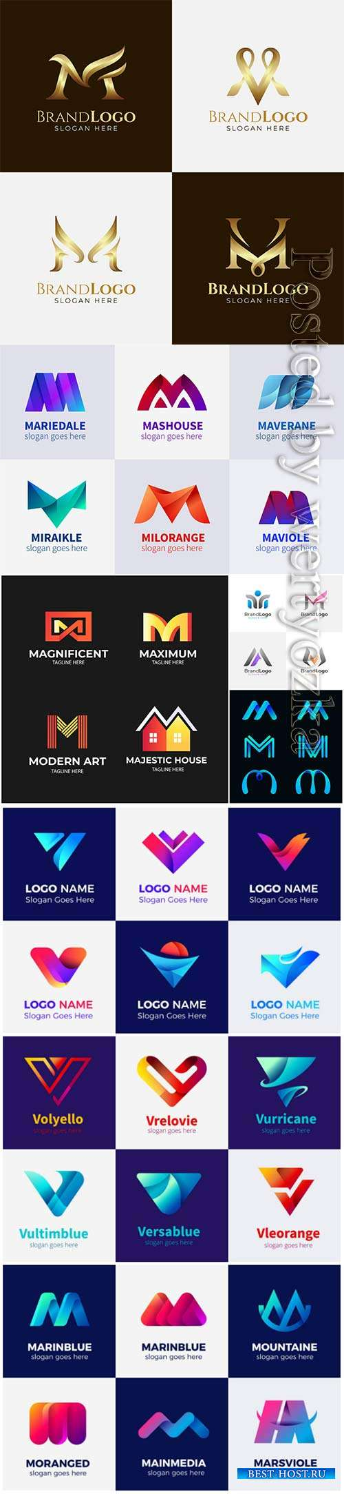 Logos in vector template