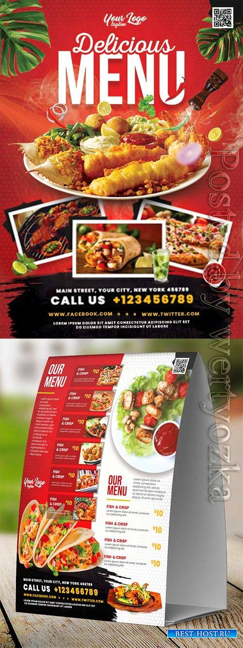 Restaurant food menu psd