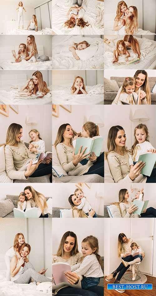 Мама и дочка - Фотоклипарт