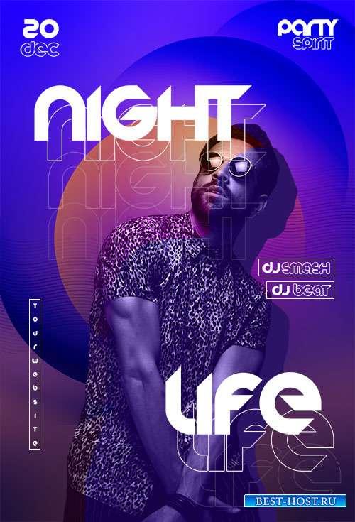 Night Life Flyer Template PSD