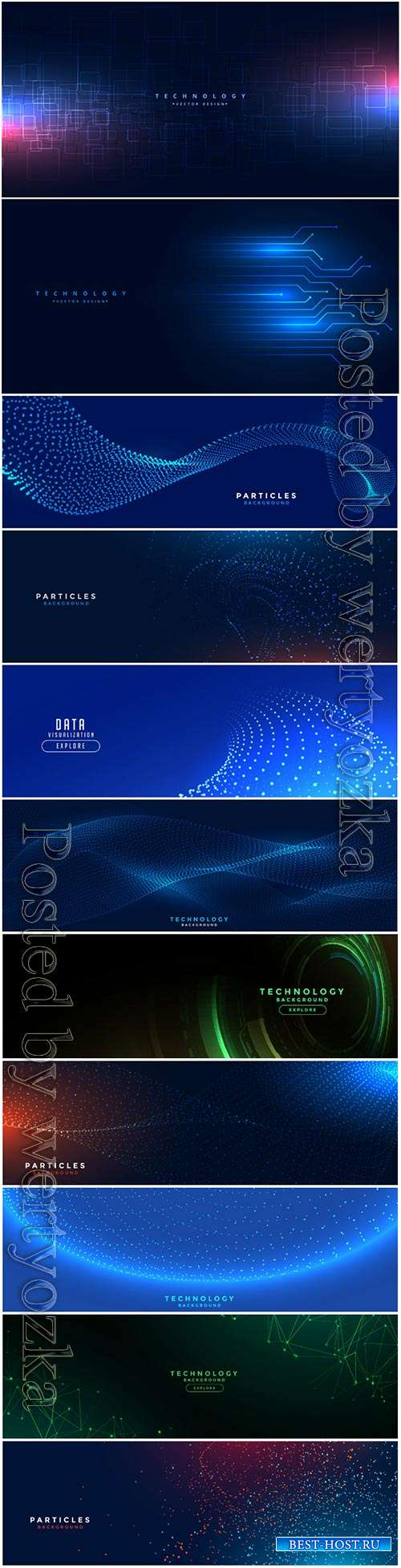 Digital technology network lines mesh vector banner