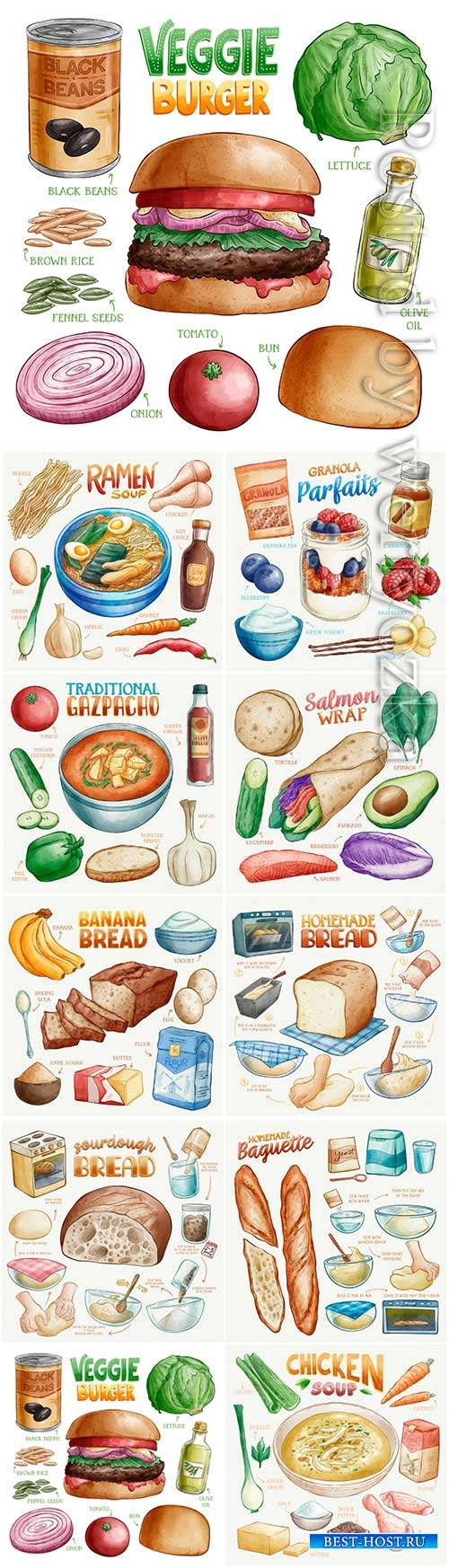 Foood vector set