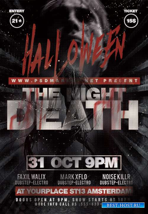 Death night flyer psd