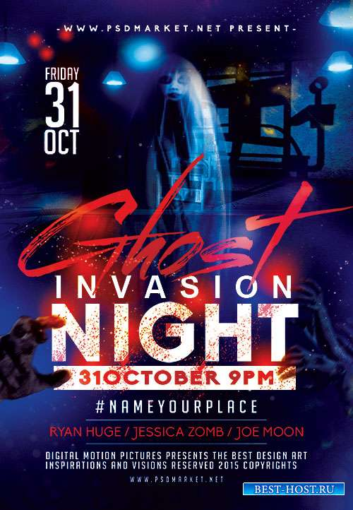 Ghost night flyer psd