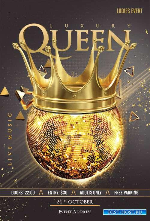 Luxury Queen Flyer PSD