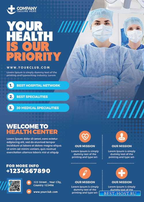 Health Care and Hospital Flyer PSD
