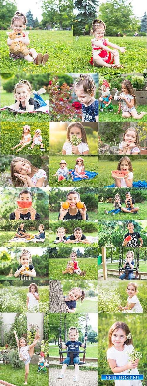 Счастливый мир детей - Фотоклипарт