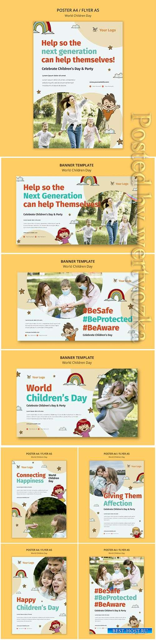 World children day flyer template