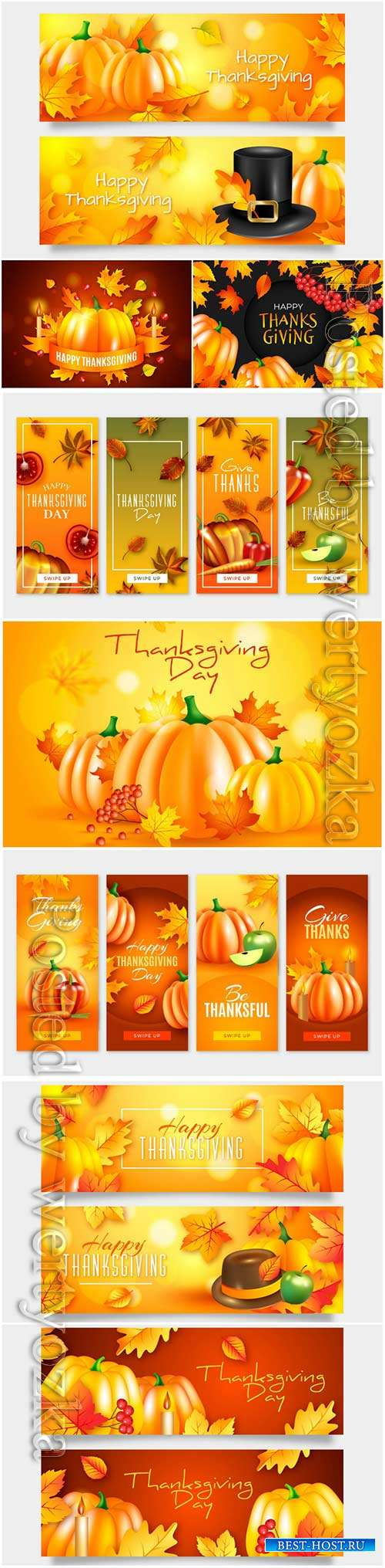 Thanksgiving day banner design