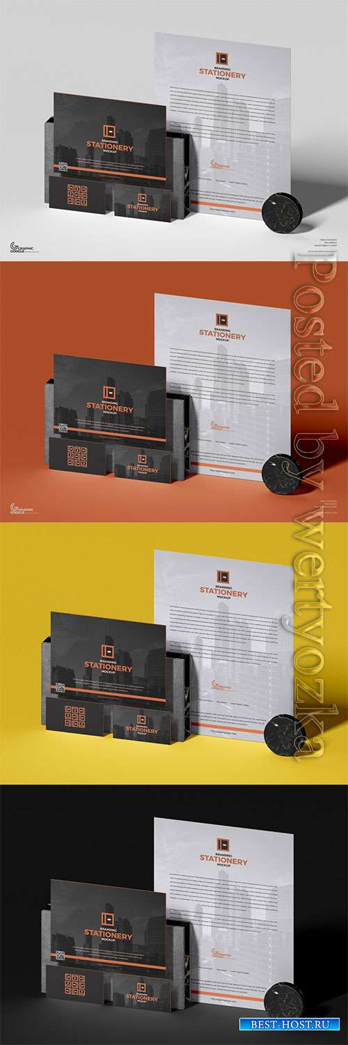 PSD Brand Stationery Mockup For Designers