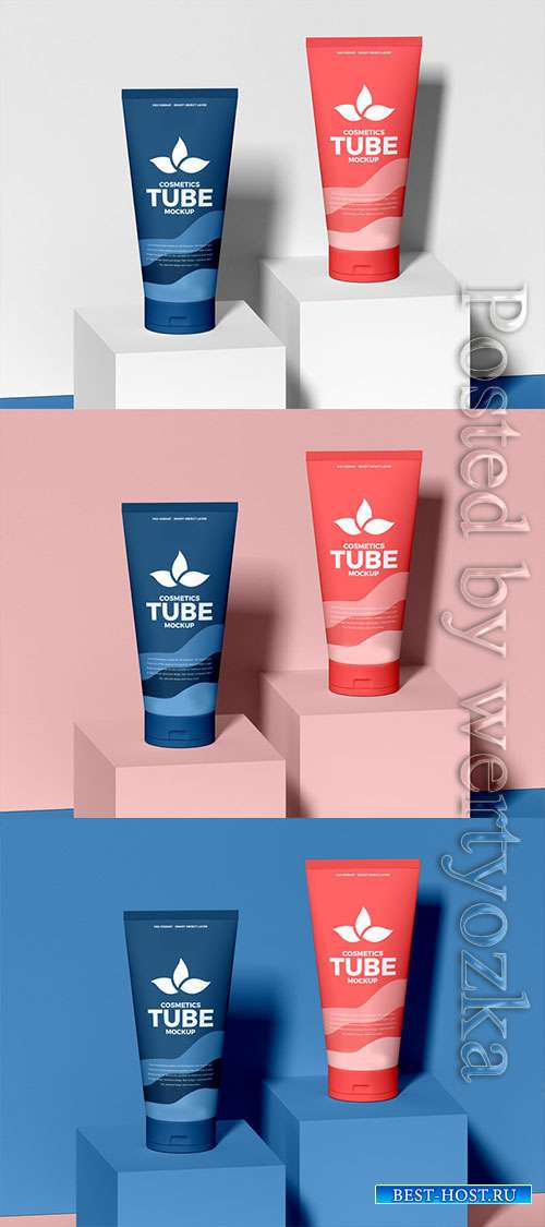 Elegant Cosmetics Tubes Mockup