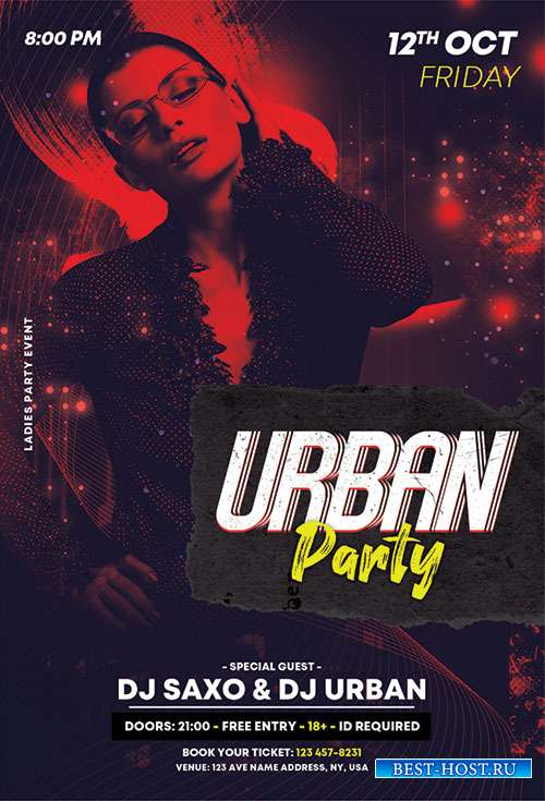 Urban party vol3  flyer template psd