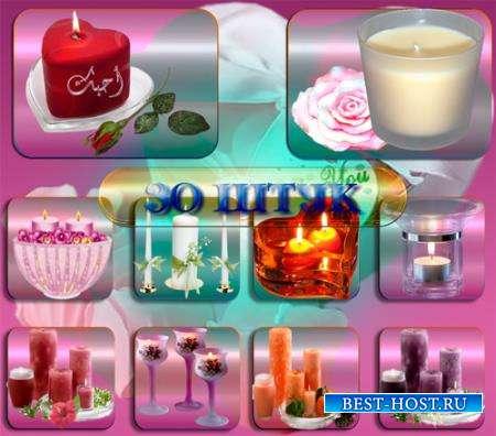 Клипарты без фона - Праздничные свечи