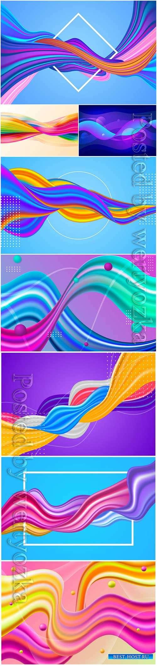 Gradient fluid vector background