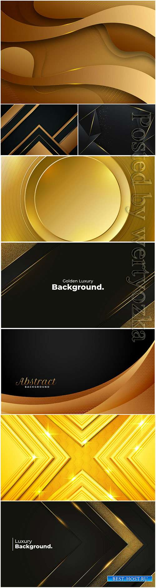 Vector backgrounds with gold decor