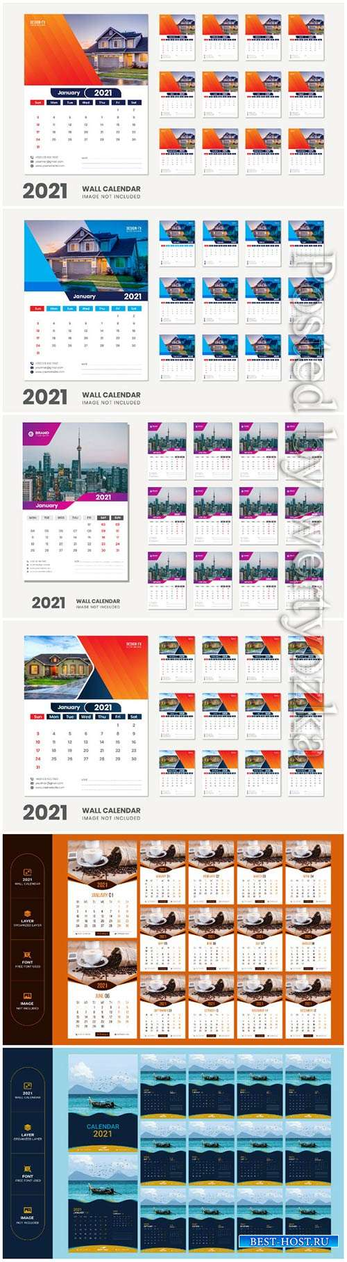 2021 desk calendar - 12 months included