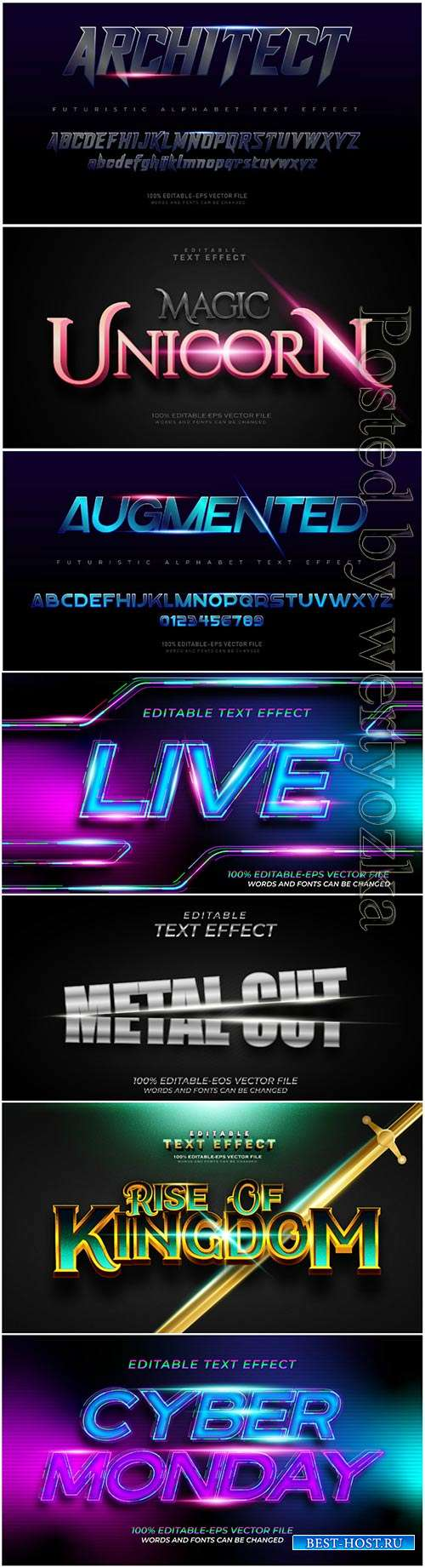 Text effect in vector