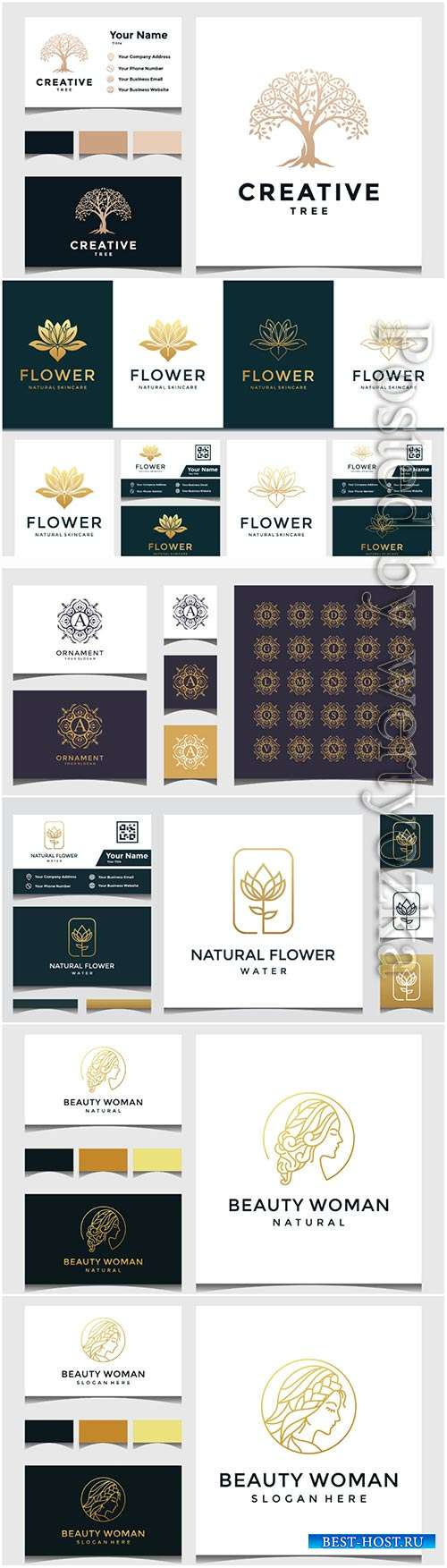 Logo and business card design template