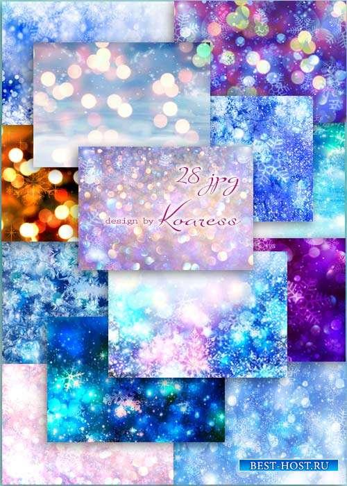 Новогодние, зимние  растровые фоны - Winter backgrounds