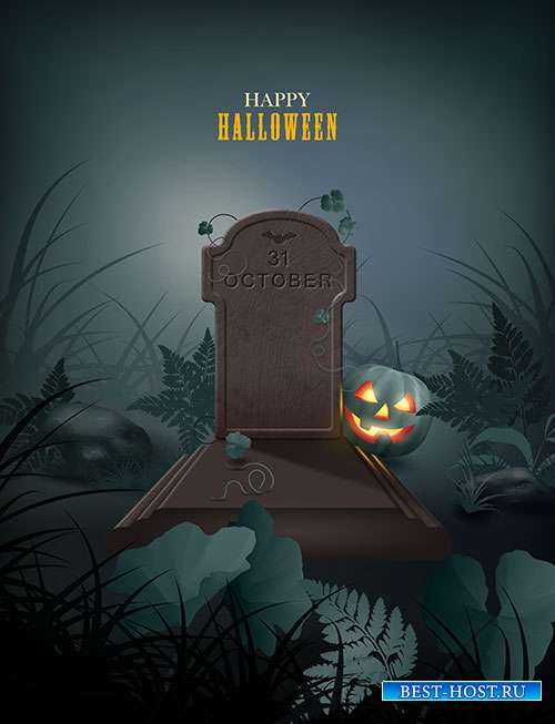 Halloween themed vector illustration