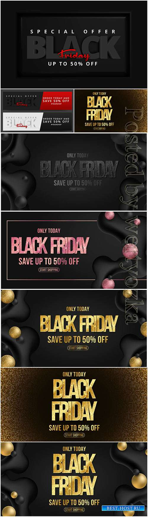 Elegant banner for black friday sale