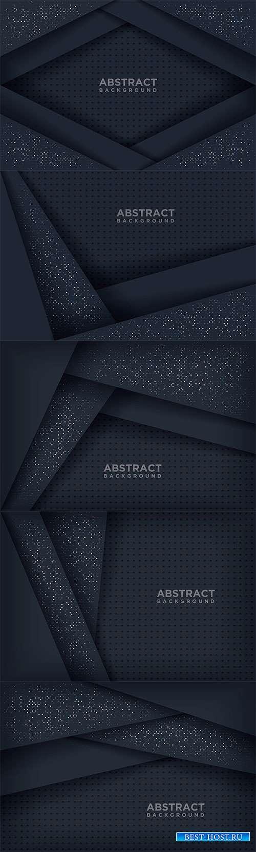 Тёмные векторные фоны в 3D