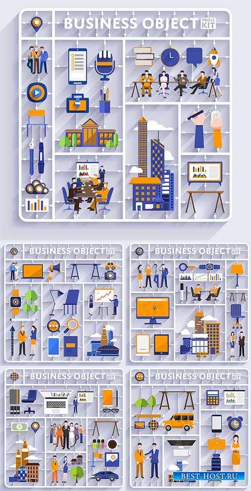 Объекты для бизнеса - Векторный клипарт