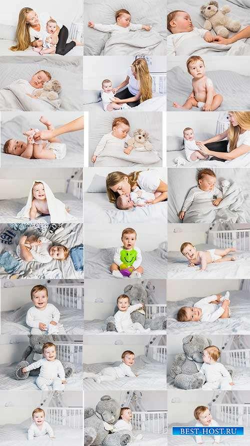 Младенец с мамой - Фотоклипарт