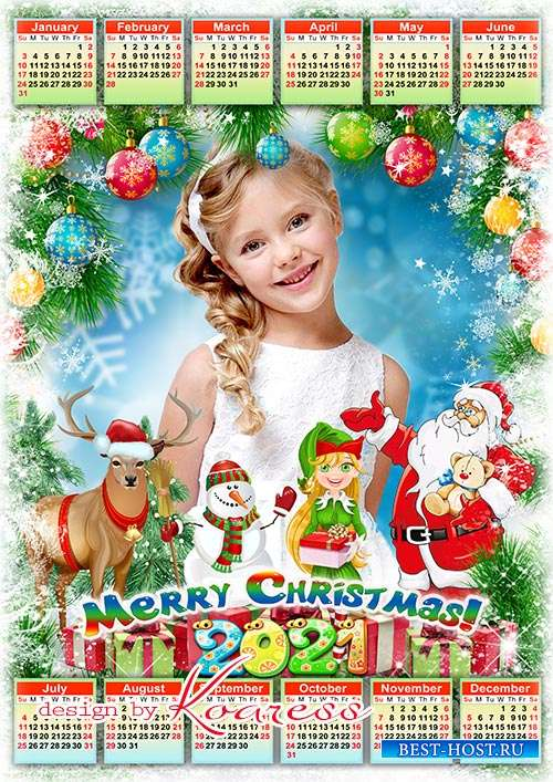 Новогодний календарь на 2021 год  - Merry Christmas and Happy New Year calendar 2021 for kids photos