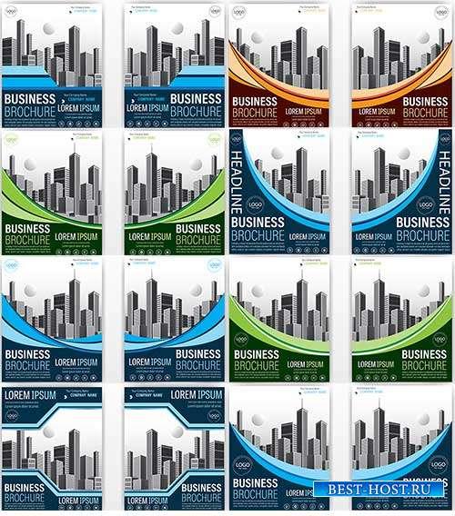 Флаеры для бизнес-проектов - Векторный клипарт