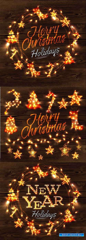 Merry Christmas - Векторный клипарт
