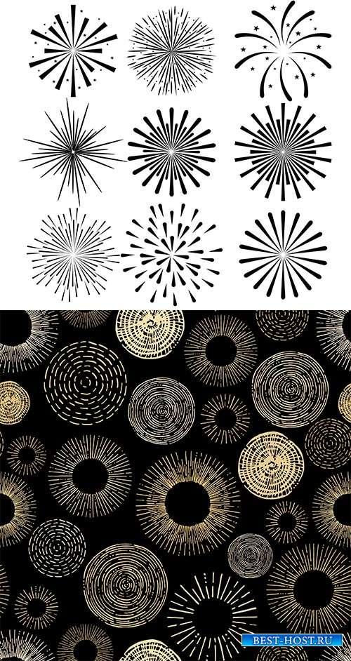 Шаблоны круглых узоров - Векторный клипарт
