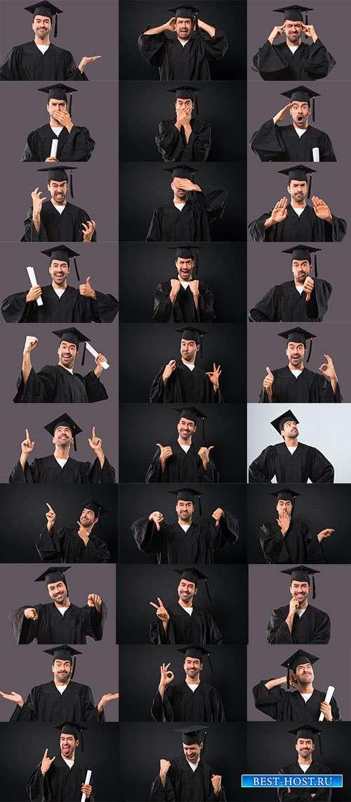 Выпускник университета - Фотоклипарт