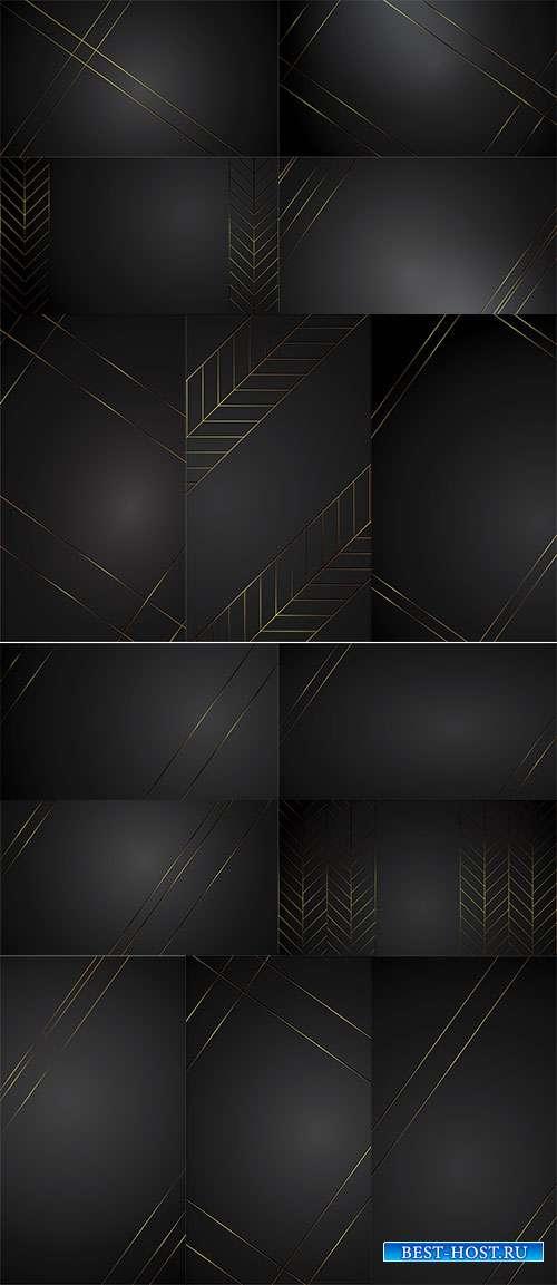 Чёрные фоны - Векторный клипарт
