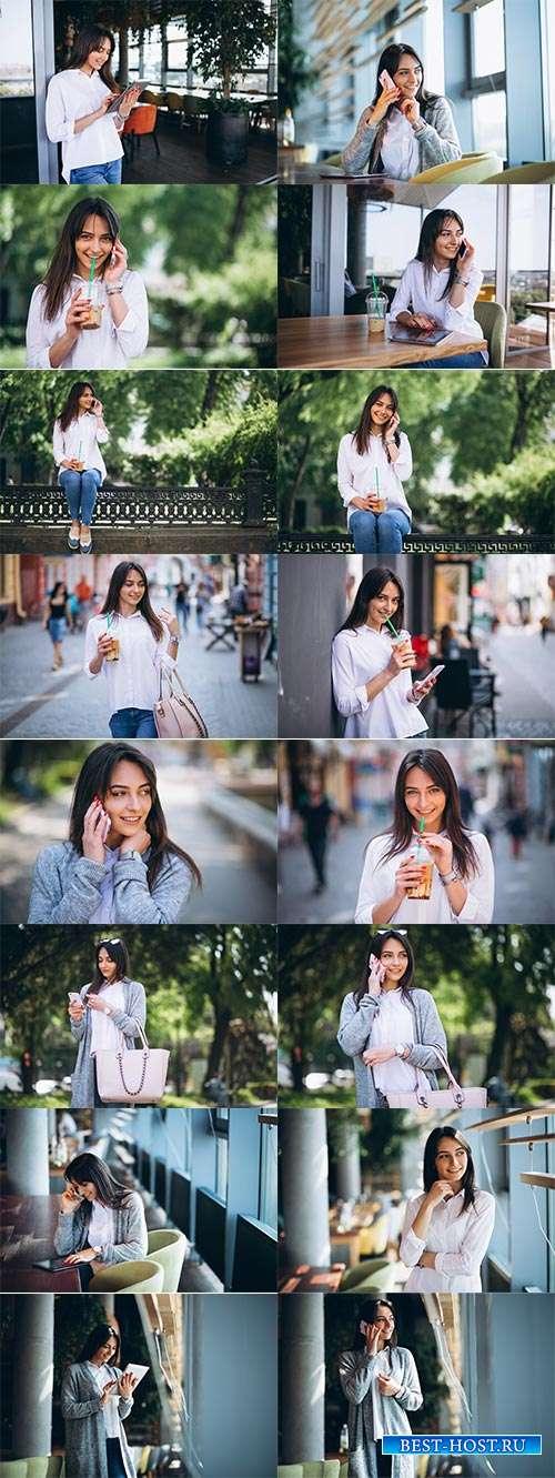 Очаровательная девушка - Фотоклипарт