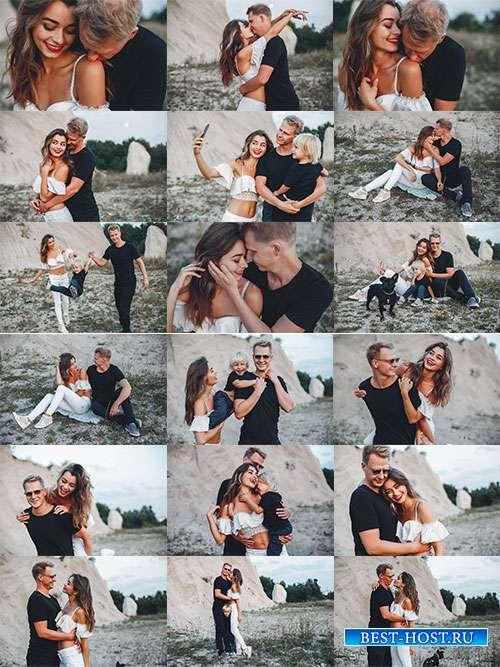 Счастливая семья - Фотоклипарт