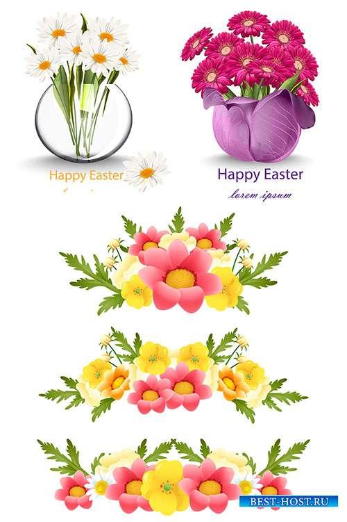 Весенние цветы - Векторный клипарт