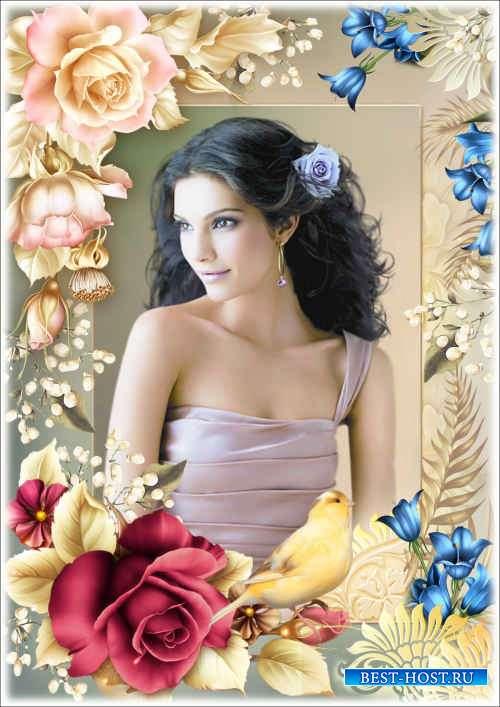 Цветочная рамка для фото - Розы
